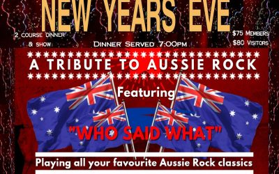NEW YEARS EVE –                      2 course dinner & show                                                                                                       $75 Reservoir RSL Members $80 Visitors